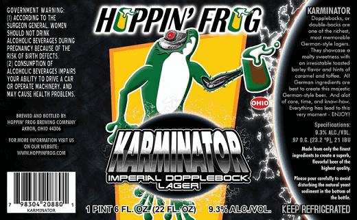 Hoppin' Frog Karminator Imperial Doppelbock Lager
