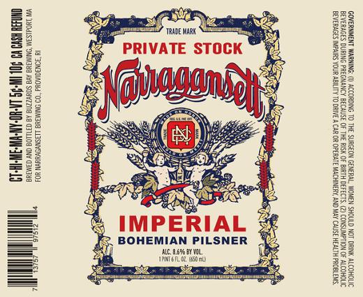 Narragansett Imperial Bohemian Pilsner