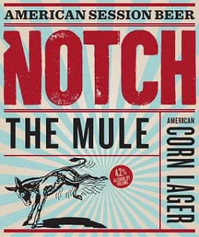 Notch the mule american corn lager